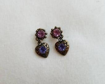 Pretty in Purple + Pink stud earrings <Be My Valentine> series