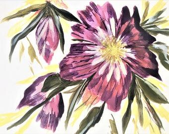 "5x7"" Purple Flower Print"