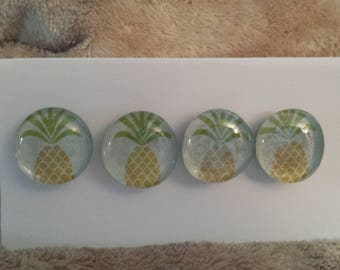 Pineapple Glass Gem Magnets