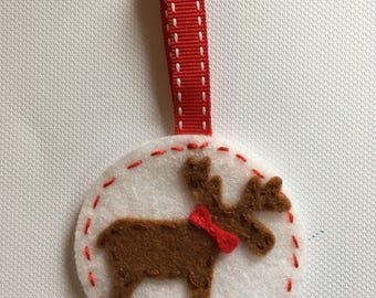 Moose christmas decoration