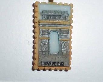 Paris Arc de Triomphe France charm resin 30mm