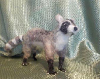 Nedle Felted Raccoon 2