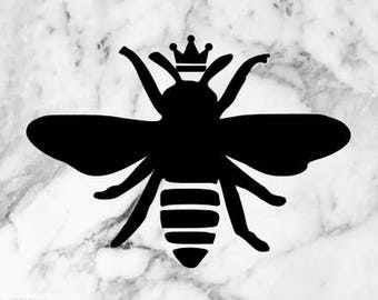 Queen Bee Vinyl Decal Laptop Car Sticker Window
