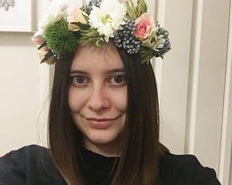 Flower Crown/ Floral Headpiece/ Headband/ Wreath/ Bridal/ Wedding/ Engagement/ Hens/ Bridal Shower/ Artificial/ Races/ Melbourne cup: Lisa