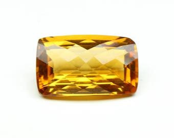 Natural Amazing AAA+ Citrine Faceted Octagon Chekar Cut Citrine  with Nice cutting 18X11X8 MM Huge Citrine Cushion CODE CT07