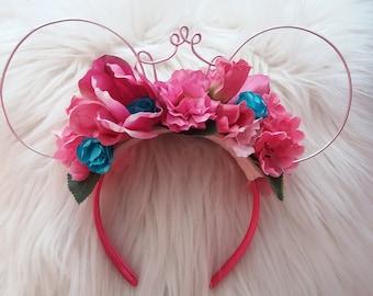 Sleeping Beauty Aurora flower crown ears