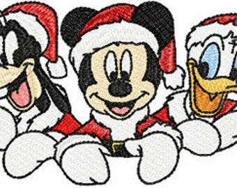 Christmas Mickey Mouse 2 machine embroidery design