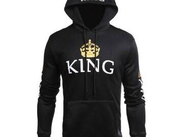 King Queen Hoodie - Couple matching hoodie