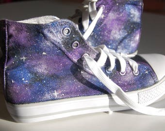Hand painted Galaxy shoes / Galaxy hand painted shoes