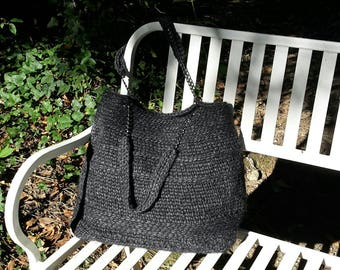 Crochet bag, crochet, shoulder bag, handmade, hand made, cashmere.