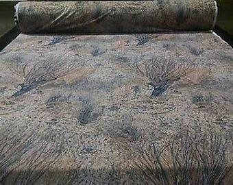 "Mossy Oak Brush Poly Soft Taffeta Hunting Camo Fabric 60""W Camouflage By The Yard"