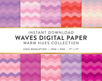 Digital Paper - Waves Design