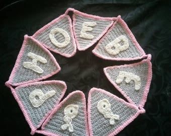 Bespoke handmade nursery bunting.