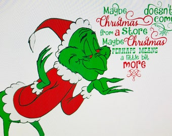 grinch: maybe christmas means a little bit more svg