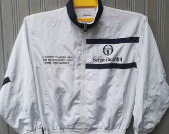 Vintage 90s Sergio Tacchini Windbreaker Jacket Full Zipper Pullover Size L