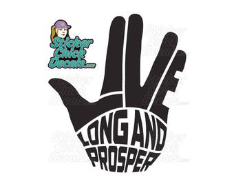 LLAP Decal Live Long And Prosper Hand Custom decal window sticker
