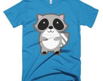 Raccoon Emoji 2 Short-Sleeve T-Shirt
