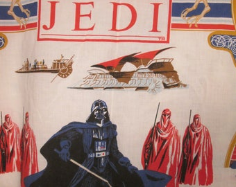 Vintage Star Wars Return of the Jedi Twin Flat Sheet 1983