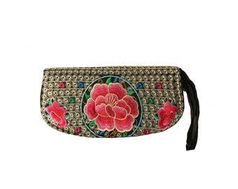 Embroidered Wallet/Clutch Wallet, Long Version, Long Version
