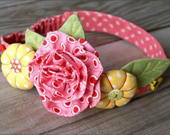 Headband sewing pattern pdf Baby flower hairband girls flower tutorial girls flower hairband tutorial pdf pumpkin headband  flower tutorial