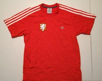 Netherlands Holland Adidas T Shirt Football Soccer Europe Vintage 1998 - Men Size S
