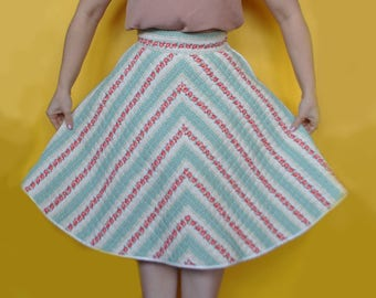 Doris Quilted floral skirt - Made by CKB