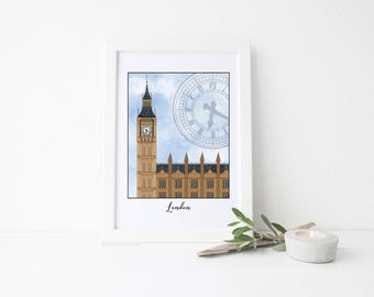 London Travel Art Print - Big Ben