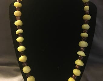Citrine and Agate Necklace
