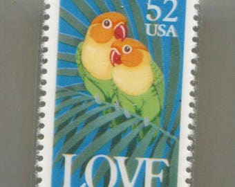 Love Birds .52 Cent USA Stamp Lapel Pin Or Tie Tac