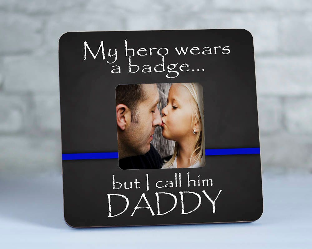 Law enforcement picture frame thin blue line gifts police 2195 jeuxipadfo Choice Image