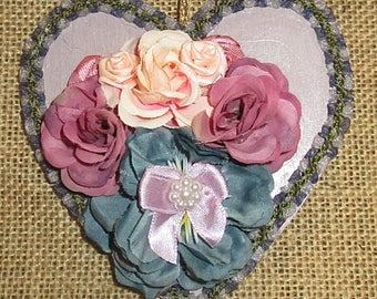 Floral heart and stripe colors