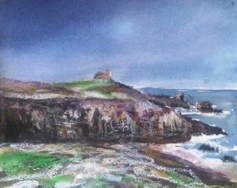 Bold pastel breton and even small print on paper 300 gr x15cm 13.5% landscape Quiberon series