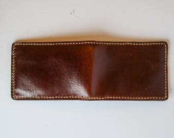 Mahogany Buffalo Leather Wallet