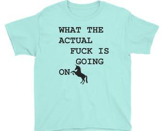Confused Unicorn Child's t-shirt