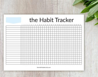 Habit Tracker Printables, Monthly Routine Tracker Printable, Instant Pdf Download, Letter A4 Size