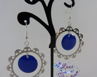 print and sequin earrings