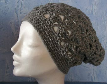Beanie Crochet in a netoptics in grey ku 54-58 cm