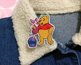 Pooh Bear and Piglet - Winnie The Pooh Patch, Iron on Patch