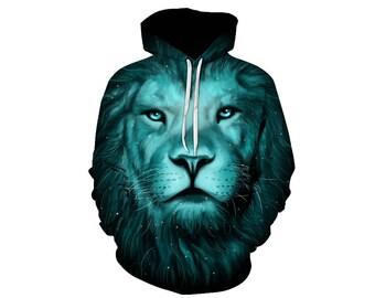 Lion Hoodie, Lion, Lion Hoodies, Animal Prints, Animal Hoodie, Animal Hoodies, Lions, Hoodie Lion, Hoodie, 3d Hoodie, 3d Hoodies - Style 7