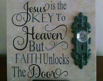 Jesus is the Key to Heaven - 12 x 12 ceramic tile