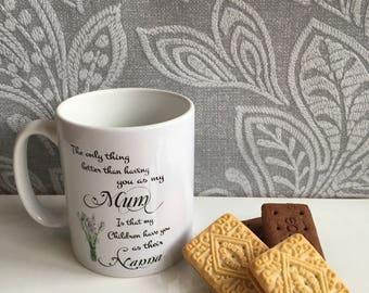 Mum / Nanna Mug - Perfect gift for Mothers Day