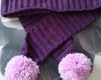 Child's pompom scarf