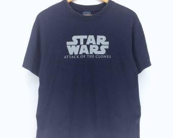Star Wars Attack Of The Clones T-shirt Medium Size