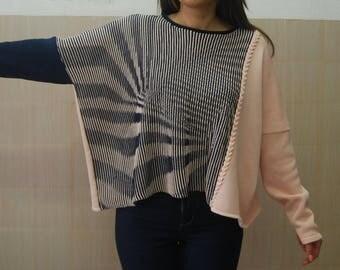 Ilusion Sweater Sweaters   Women's sweaters   wool sweater   oversized sweater   minimalist sweater   handmade     handmade cable knit