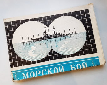 USSR Vintage «Sea Battle» Board Game in original box 1980s