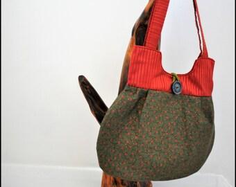 Shoulder bag, Hand bag, Fabric bag, Handmade bag, Stylish handbag, Hobo bag, Gift for Her, Mothers Day gift, Tote bag, Ladies bag, Mum gift