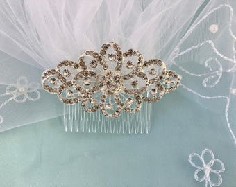 Bridal Veil With Comb, Wedding Veil With Comb, Elbow Length Veil, Bridal Wedding Veil, Floral Wedding Veil, Floral Bridal Veil