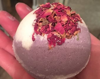 Rose and Lavender Flower Bath Bomb