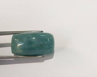 loose gemstones aquamarine cabochon 31 cts cushaion shape size 25x14 mm 11 mm h