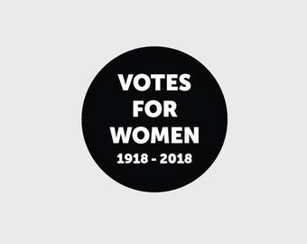 STICKER Votes For Women 1918-2018 045
